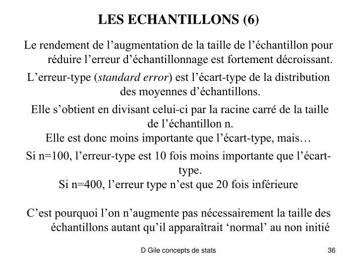 LES ECHANTILLONS (6)