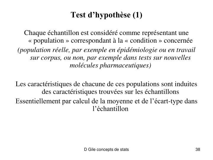 Test d'hypothèse (1)