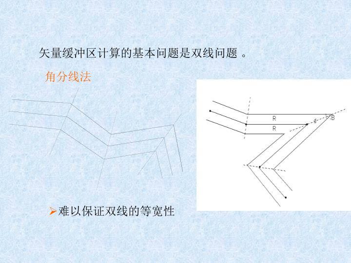 矢量缓冲区计算的基本问题是双线问题 。