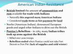 american indian resistance