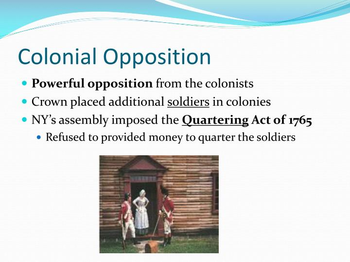Colonial Opposition