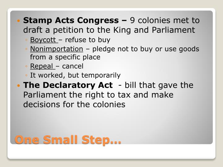 Stamp Acts Congress –