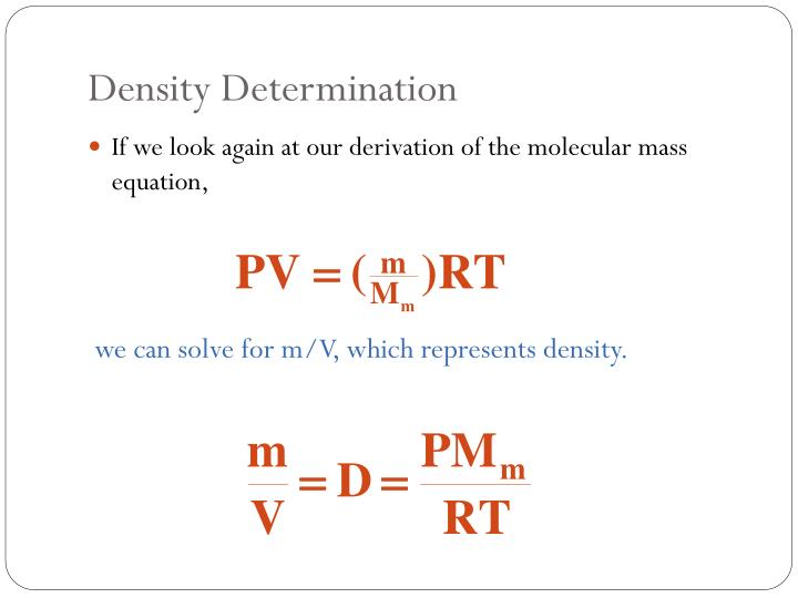 Density Determination