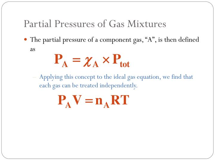 Partial Pressures of Gas Mixtures
