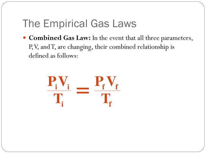 The Empirical Gas Laws