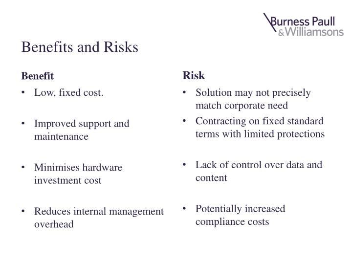 Benefits and Risks