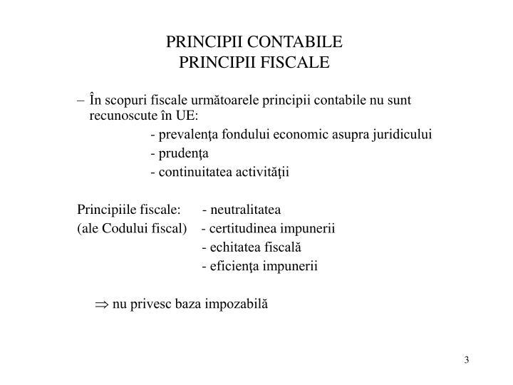 PRINCIPII CONTABILE