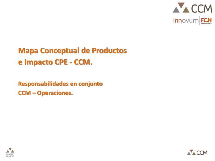 Mapa Conceptual de Productos e Impacto CPE - CCM.