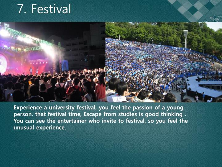 7. Festival
