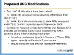 proposed unc modifications