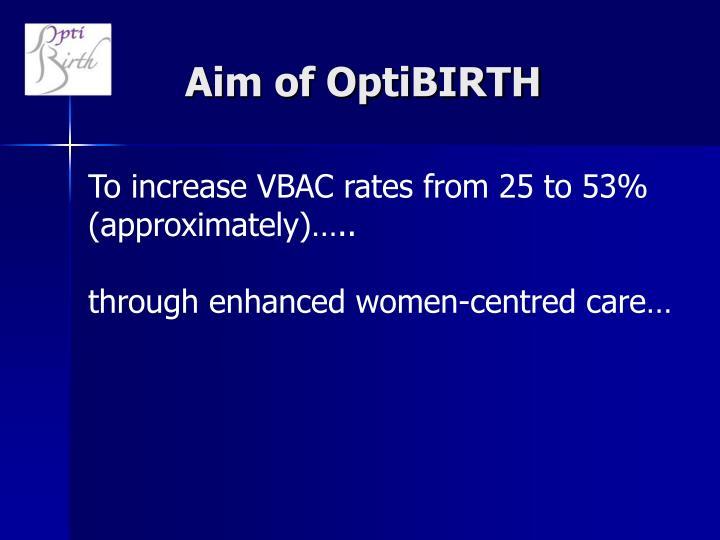 Aim of OptiBIRTH