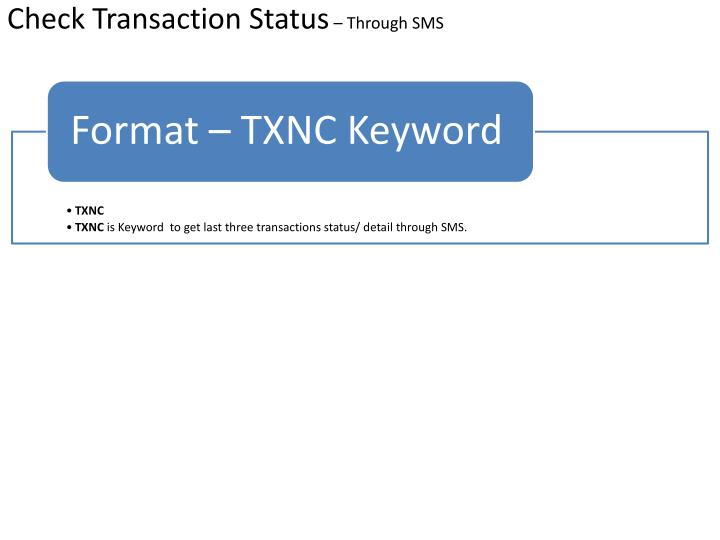 Check Transaction Status