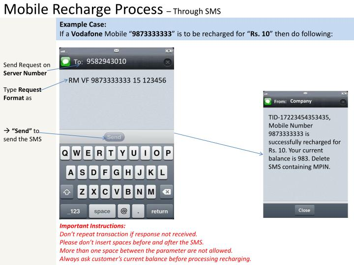 Mobile Recharge Process