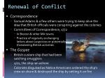 renewal of conflict