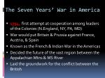 the seven years war in america