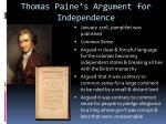 thomas paine s argument for independence