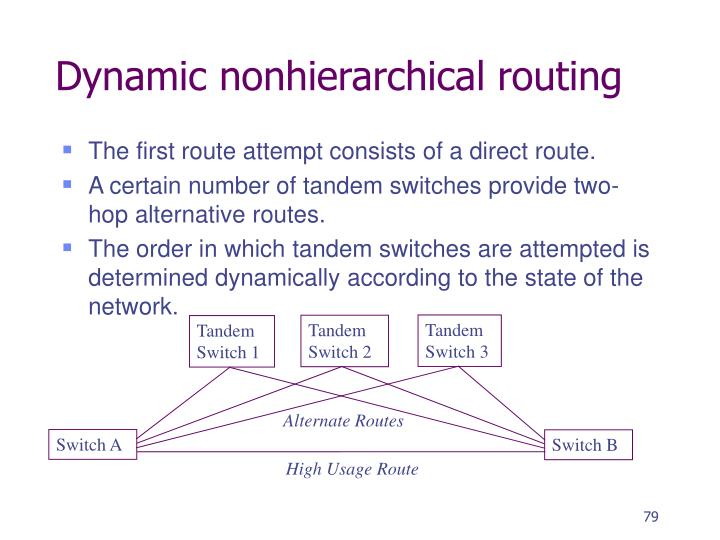 Dynamic nonhierarchical routing