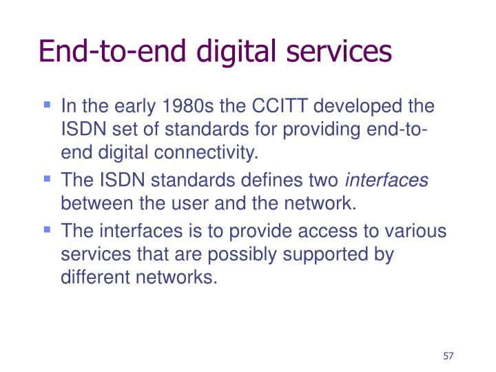 End-to-end digital services