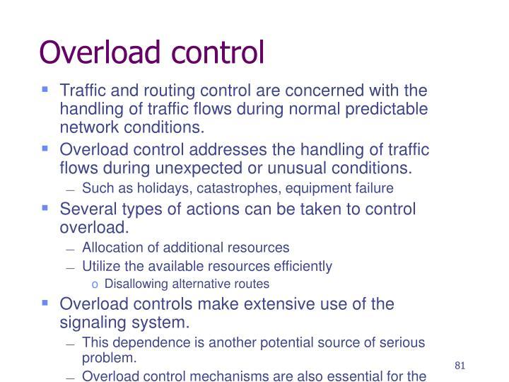Overload control