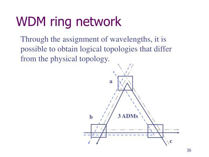 WDM ring network