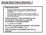 gossip style failure detection1