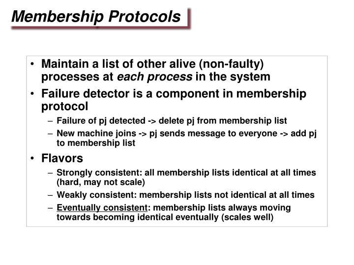 Membership Protocols