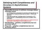 satisfying both completeness and accuracy in asynchronous systems