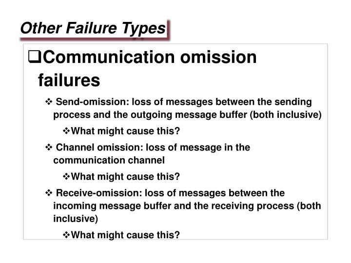 Communication omission failures
