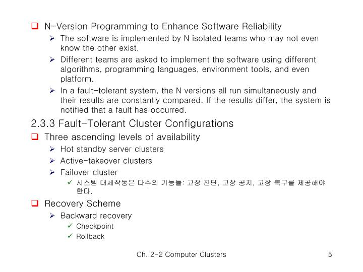 N-Version Programming to Enhance Software Reliability