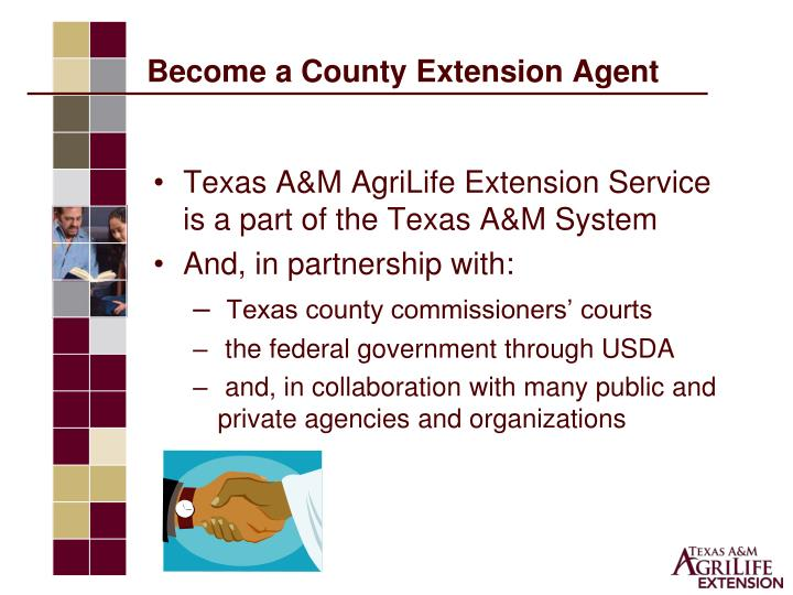 Become a county extension agent1