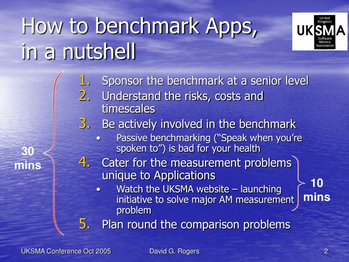How to benchmark Apps,