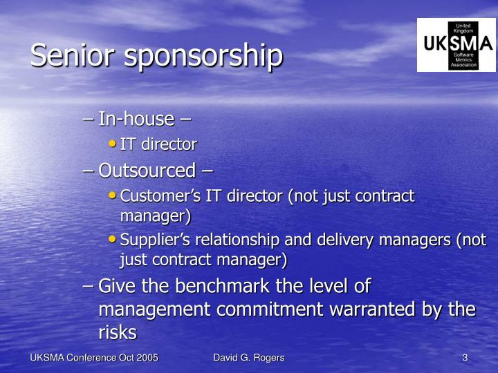 Senior sponsorship