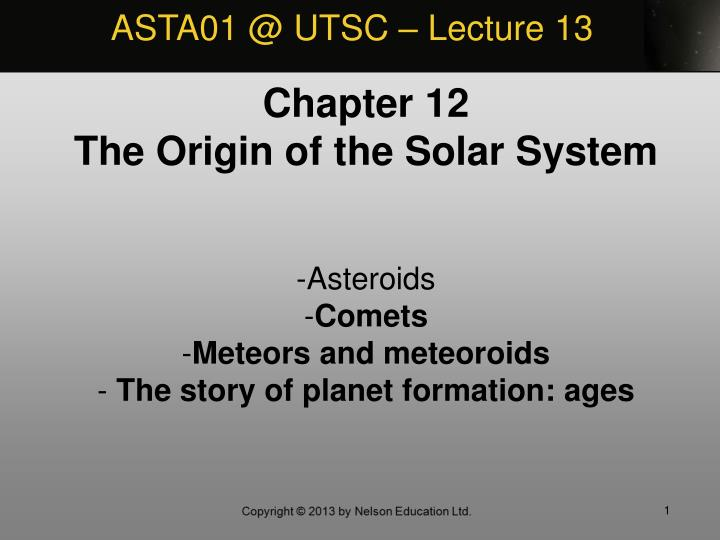 ASTA01 @ UTSC – Lecture 13