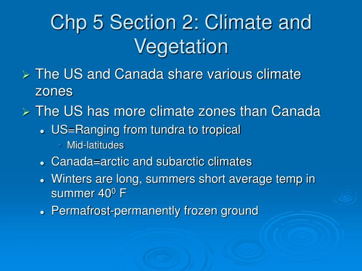 Chp 5 Section 2: Climate and Vegetation