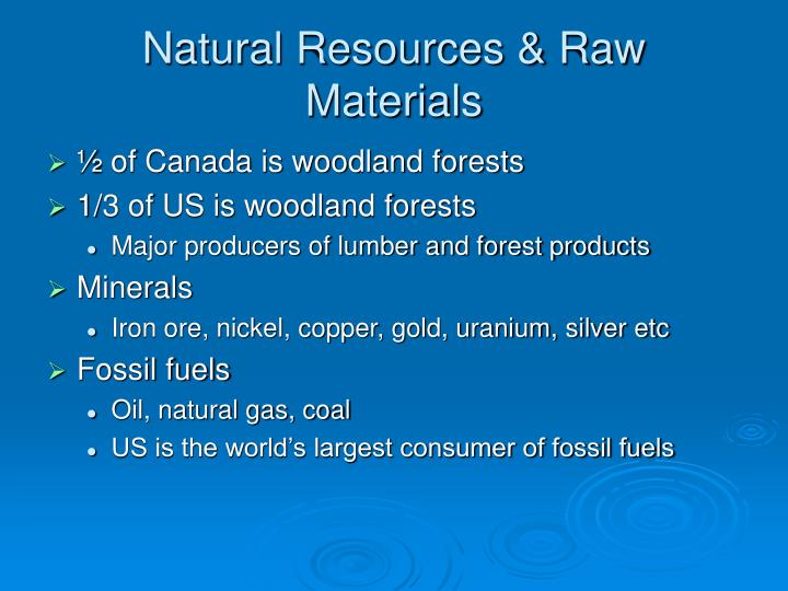 Natural Resources & Raw Materials