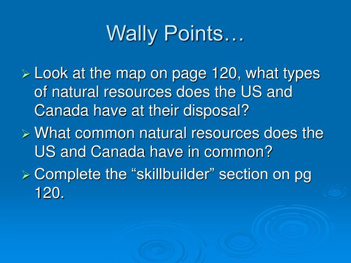Wally Points…