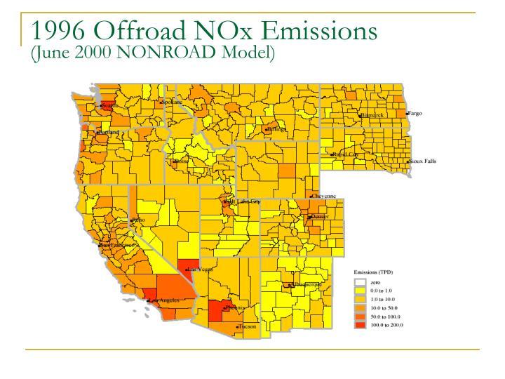 1996 Offroad NOx Emissions