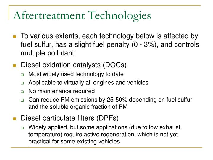 Aftertreatment Technologies