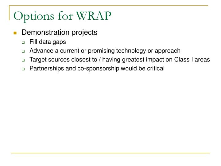Options for WRAP