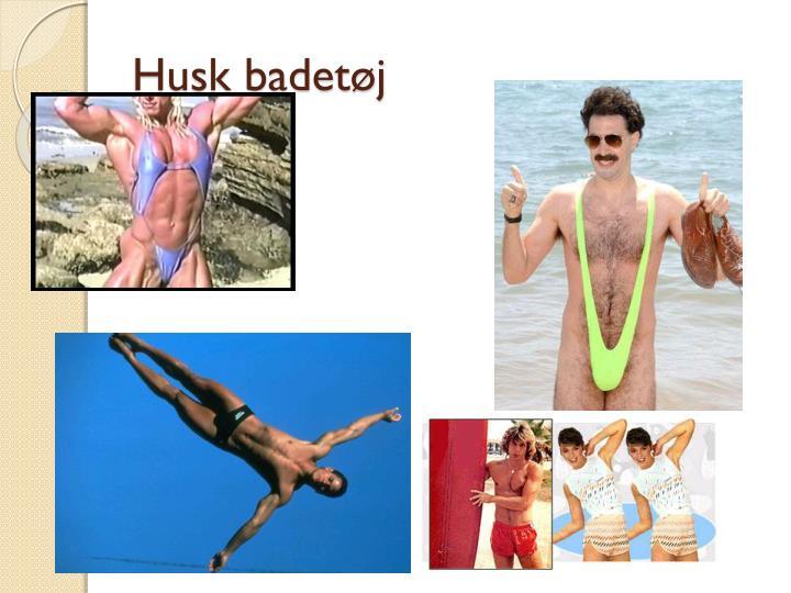 Husk badetøj
