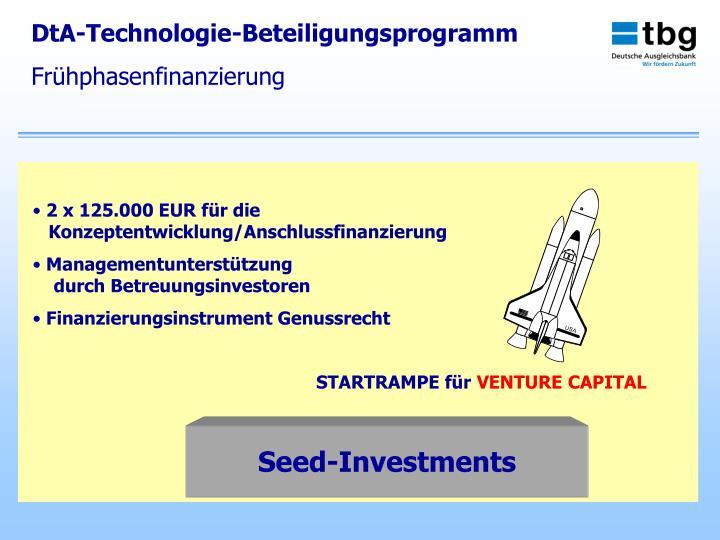 DtA-Technologie-Beteiligungsprogramm