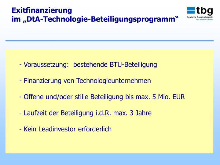 Exitfinanzierung