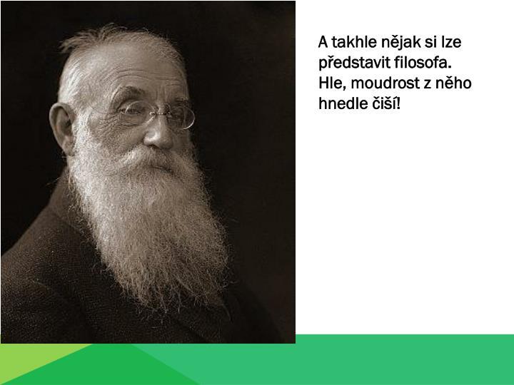A takhle nějak si lze představit filosofa.