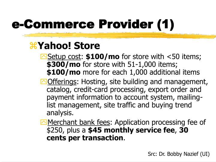 e-Commerce Provider (1)