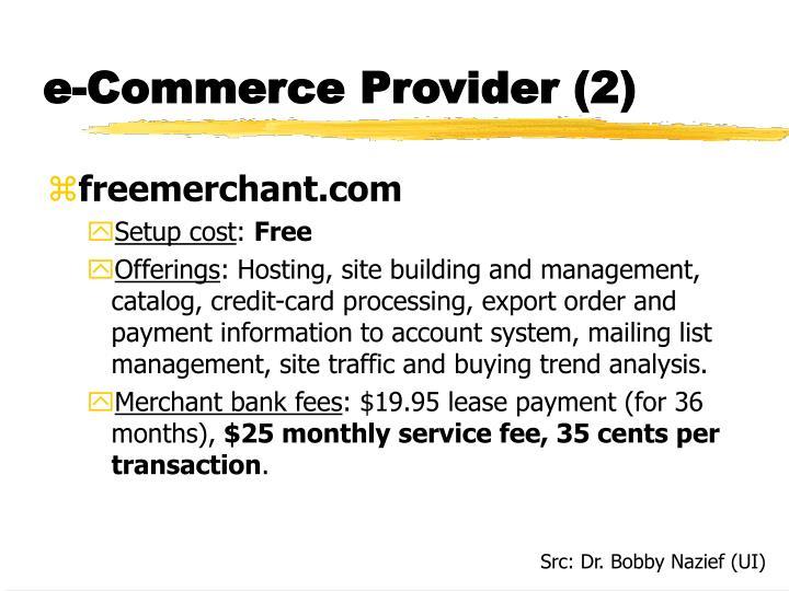 e-Commerce Provider (2)