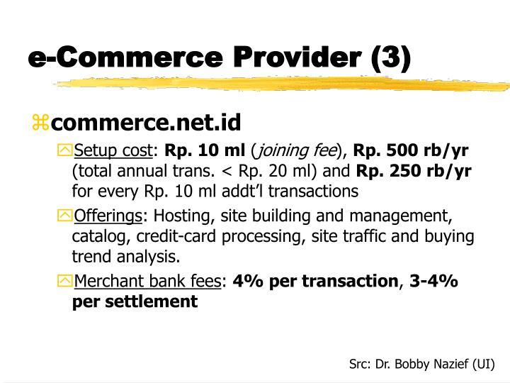 e-Commerce Provider (3)
