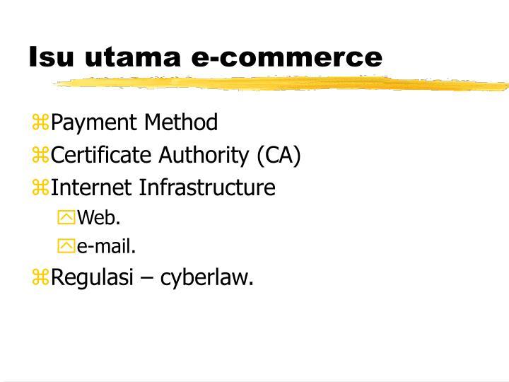 Isu utama e-commerce