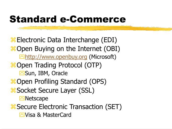 Standard e-Commerce