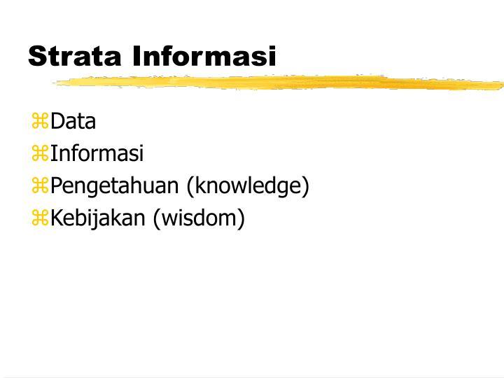 Strata Informasi