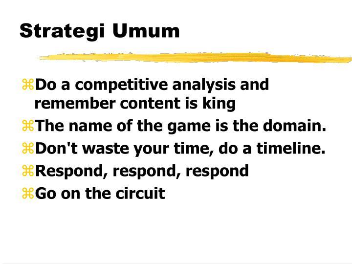 Strategi Umum